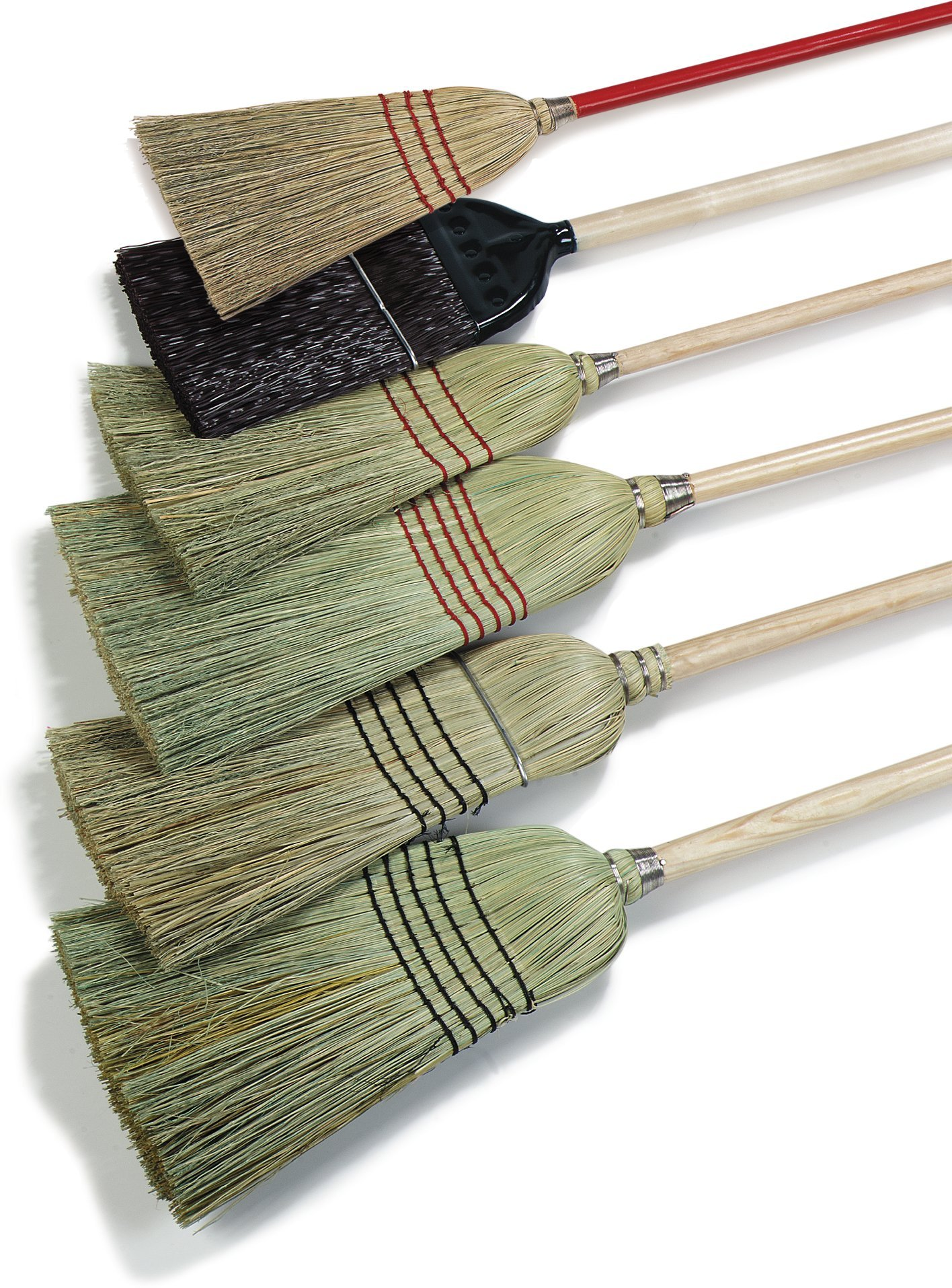 Carlisle 4135067 Commercial Corn Broom with Solid Wood Handle, 12'' Wide (Case of 12) by Carlisle (Image #7)