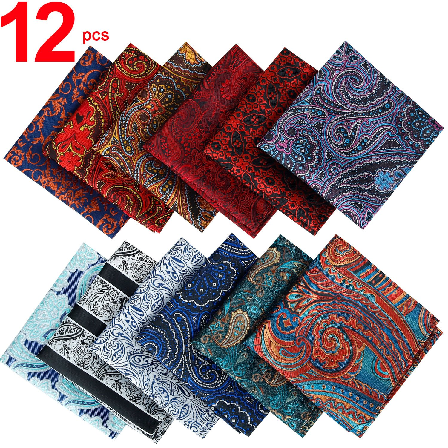 Jeatonge Pocket Square For Men Assorted