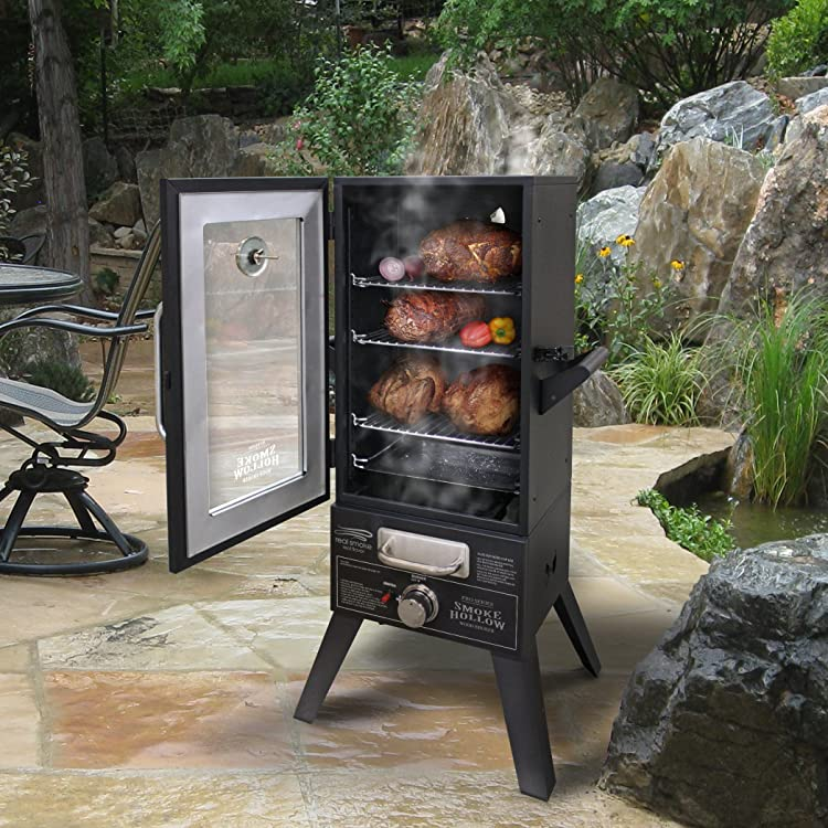 Smoke Hollow 3615GW 36-Inch Propane Gas Smoker with Window - best propane smoker
