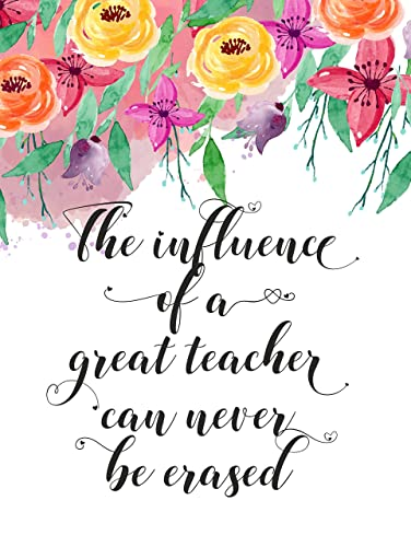 Amazon Teacher Appreciation POSTER A60 UNFRAMED The Influence Of Delectable Thank You Teacher Quotes