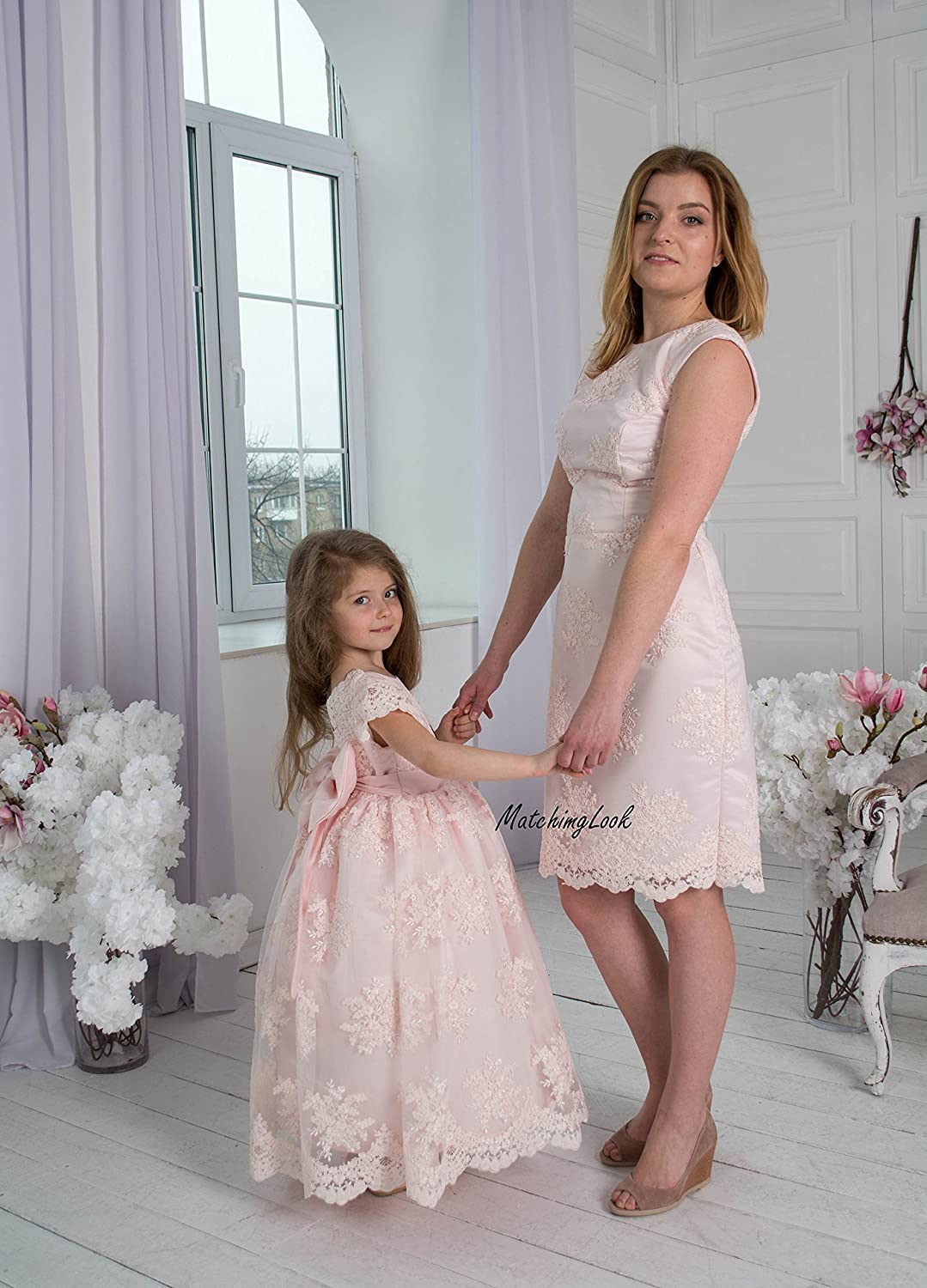 fab37d7e927b Amazon.com: Pink Mommy and Me outfits, Mother daughter matching dress,  Matching mother daughter outfits, Matching Mom and Baby, Mother Daughter  Gift: ...
