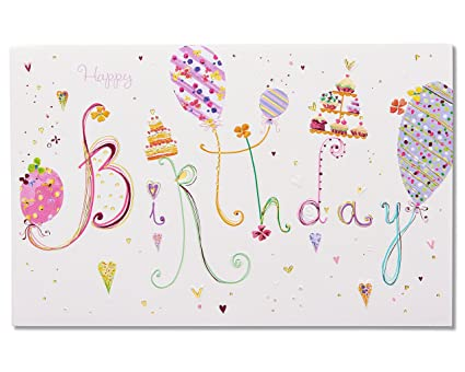 Amazon american greetings moments birthday card with foil american greetings moments birthday card with foil m4hsunfo