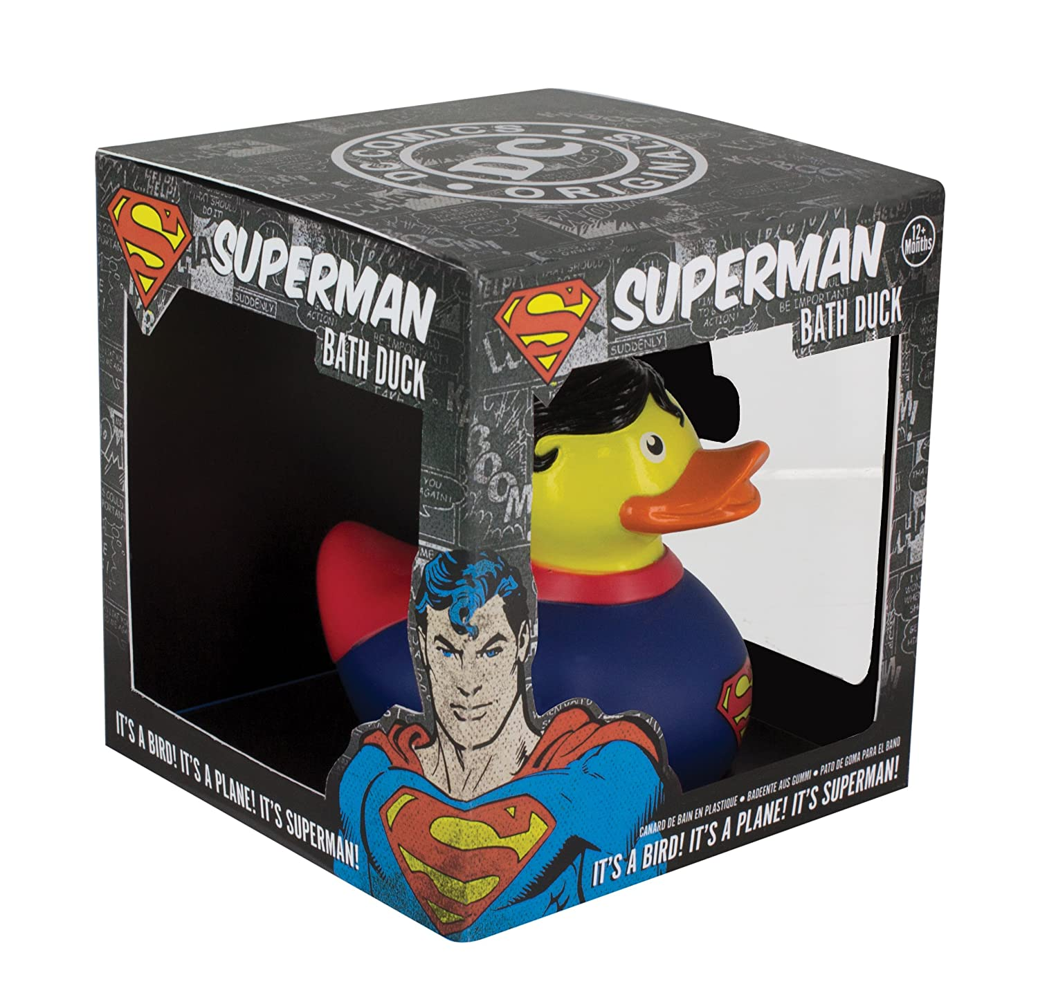 Paladone DC Comics Superman Bath Duck PP3631DC Bed and Bath