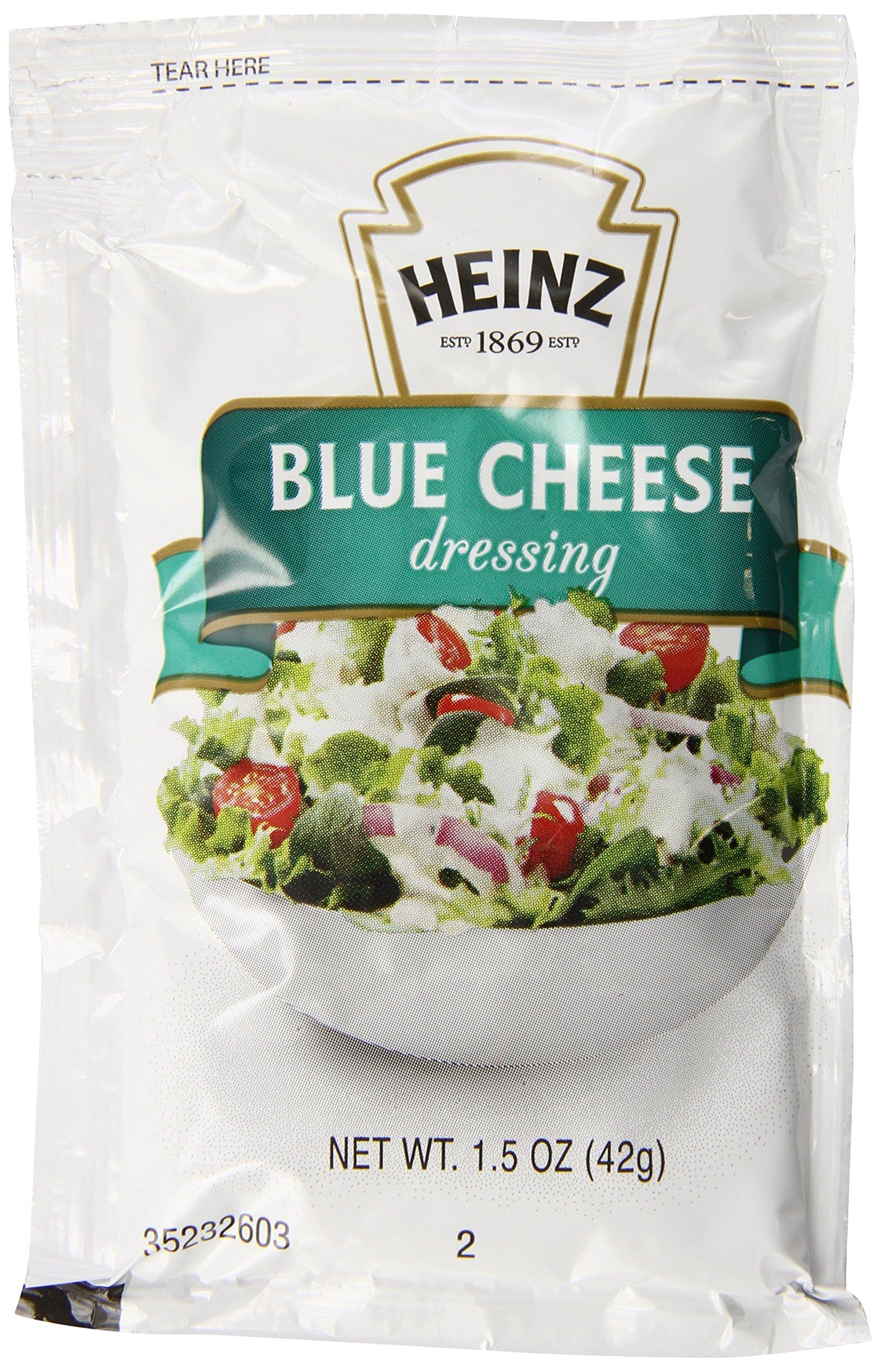 Heinz Blue Cheese Dressing, Single Serve, 1.5 oz. sachet, Pack of 60