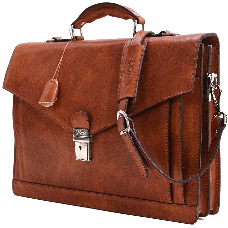 27861e210086 Amazon.com: Floto Ponza Full Grain Leather Briefcase in Olive (Honey)  Brown: Floto