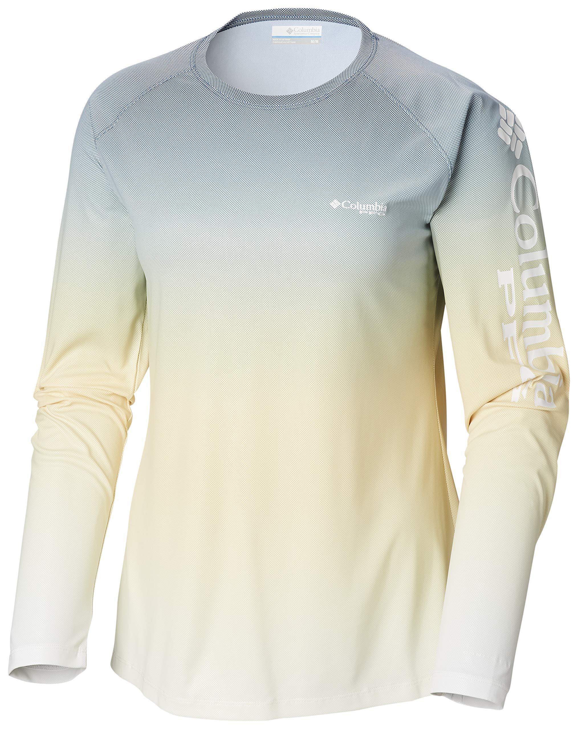 Columbia Women's PFG Tidal Deflector Long Sleeve Shirt ,Carbon Fade,Medium by Columbia