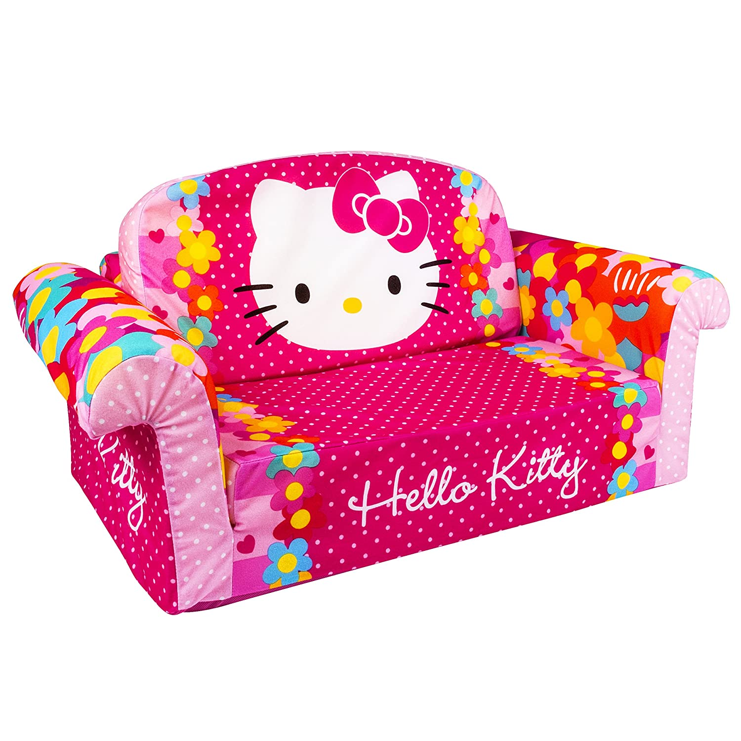 Hello kitty chair - Amazon Com Marshmallow Furniture Children S 2 In 1 Flip Open Foam Sofa Hello Kitty By Spin Master Toys Games