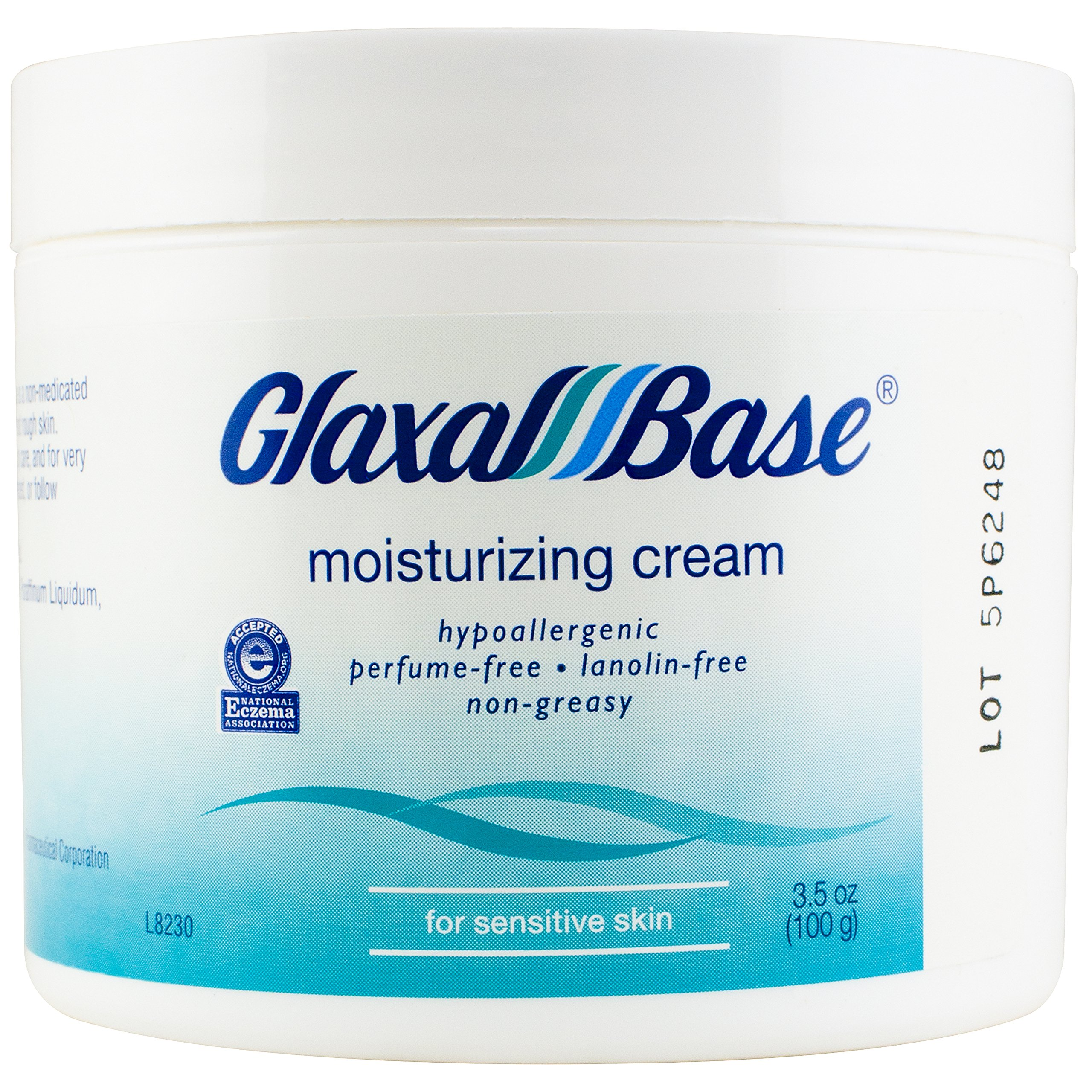 Glaxal Base Moisturizing Cream, 100 g (1 Count), Fragrance Free, Hypoallergenic, Soothing for Sensitive Skin, Nonirritating to Eczema