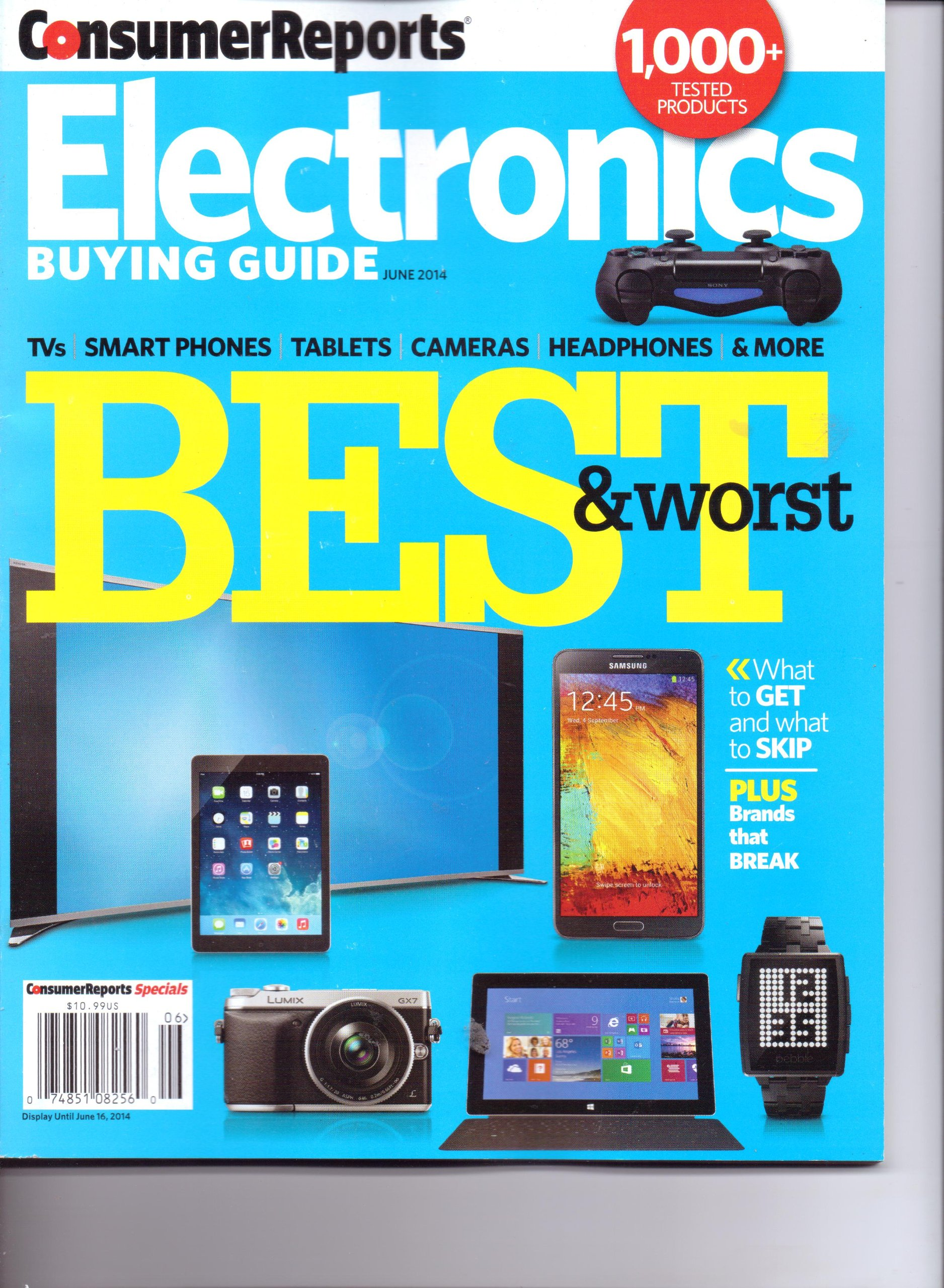 Consumer Reports - ELECTRONICS BUYING GUIDE - Best & Worst. June 2014.:  Various: Amazon.com: Books