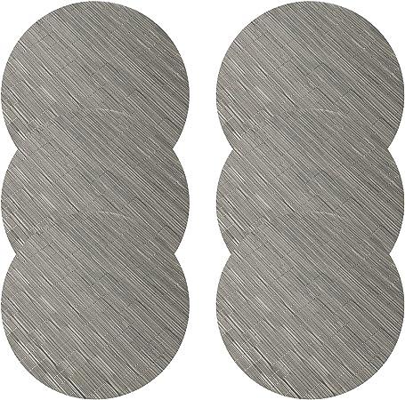 U Artlines Lot De 6 Set De Table Tresse En Pvc Lavable Resistant A