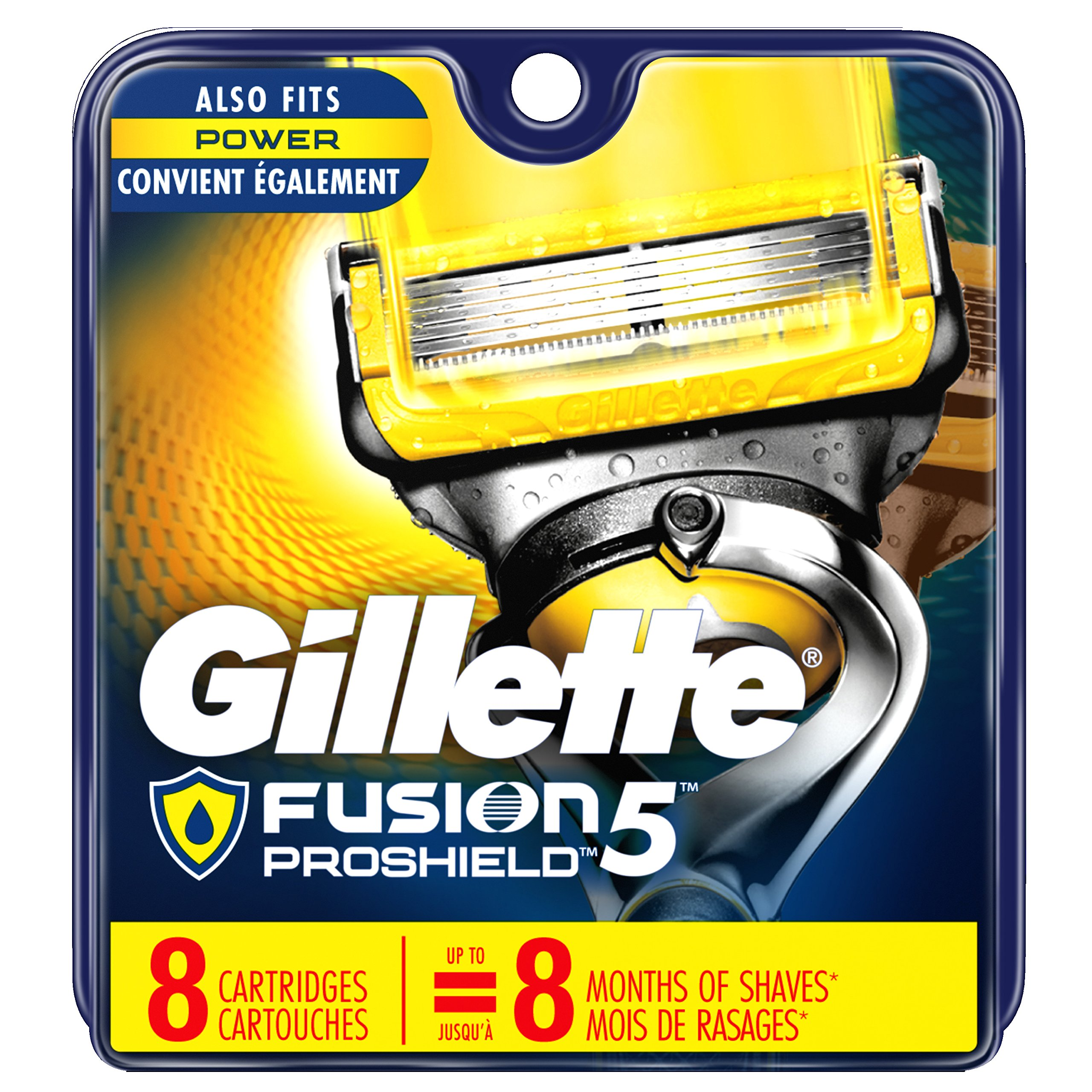 Gillette Fusion ProShield Men's Razor Blade Refills, 8 Count, Mens Razors / Blades (Packaging May Vary) by Gillette