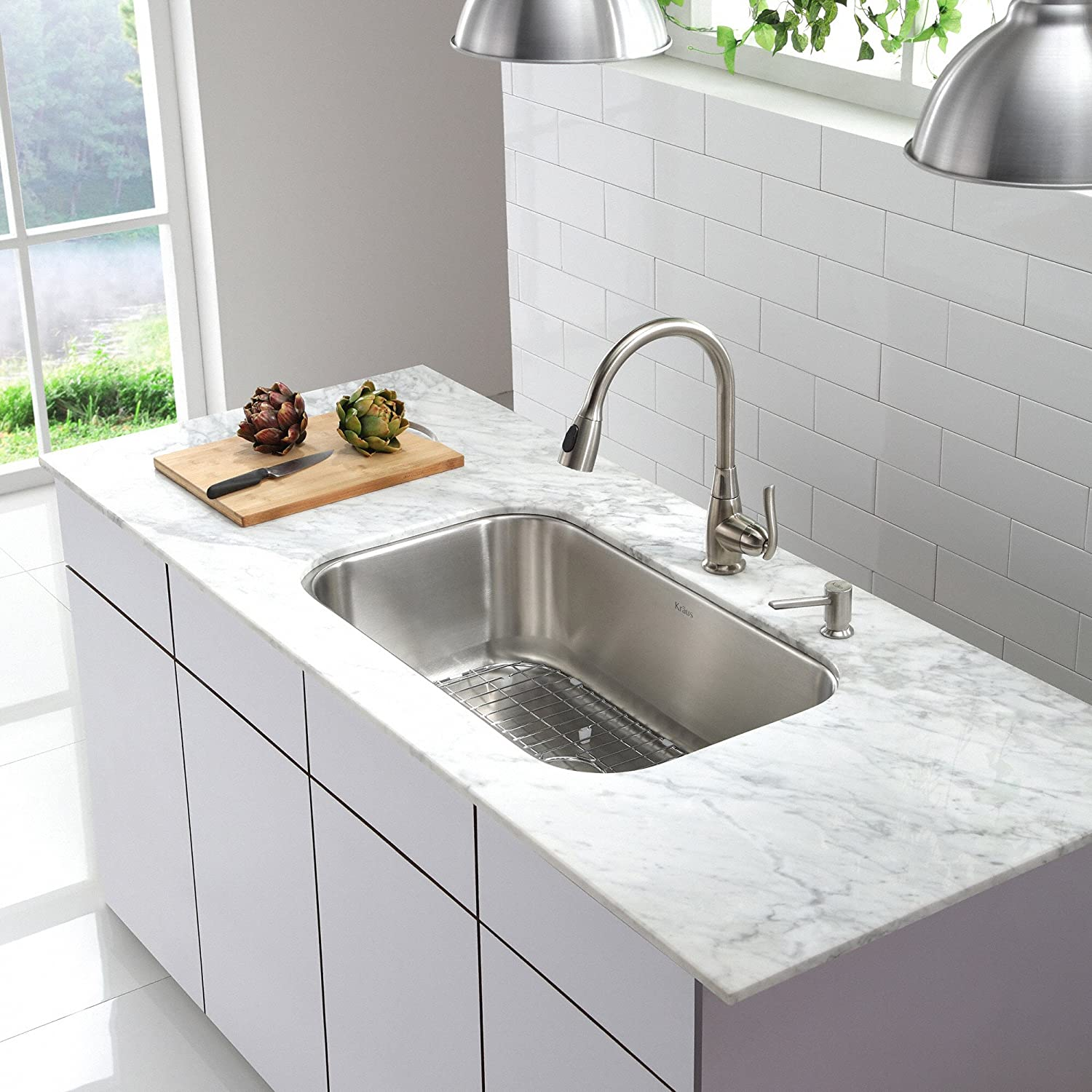 Lovely Kraus KBU14 31 1/2 Inch Undermount Single Bowl 16 Gauge Stainless Steel  Kitchen Sink     Amazon.com