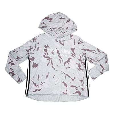 Calvin Klein Camouflage Logo Print Long Sleeve Athletic Hoodie at Women's Clothing store