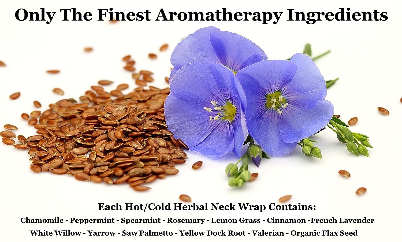 Cheapest amazon herbs - Amazon Com Happy Wraps Herbal Neck Wrap W Free Lavender Eye Pillow Free Sleep Mask Microwave Or Freeze Navy Cotton Health Personal Care