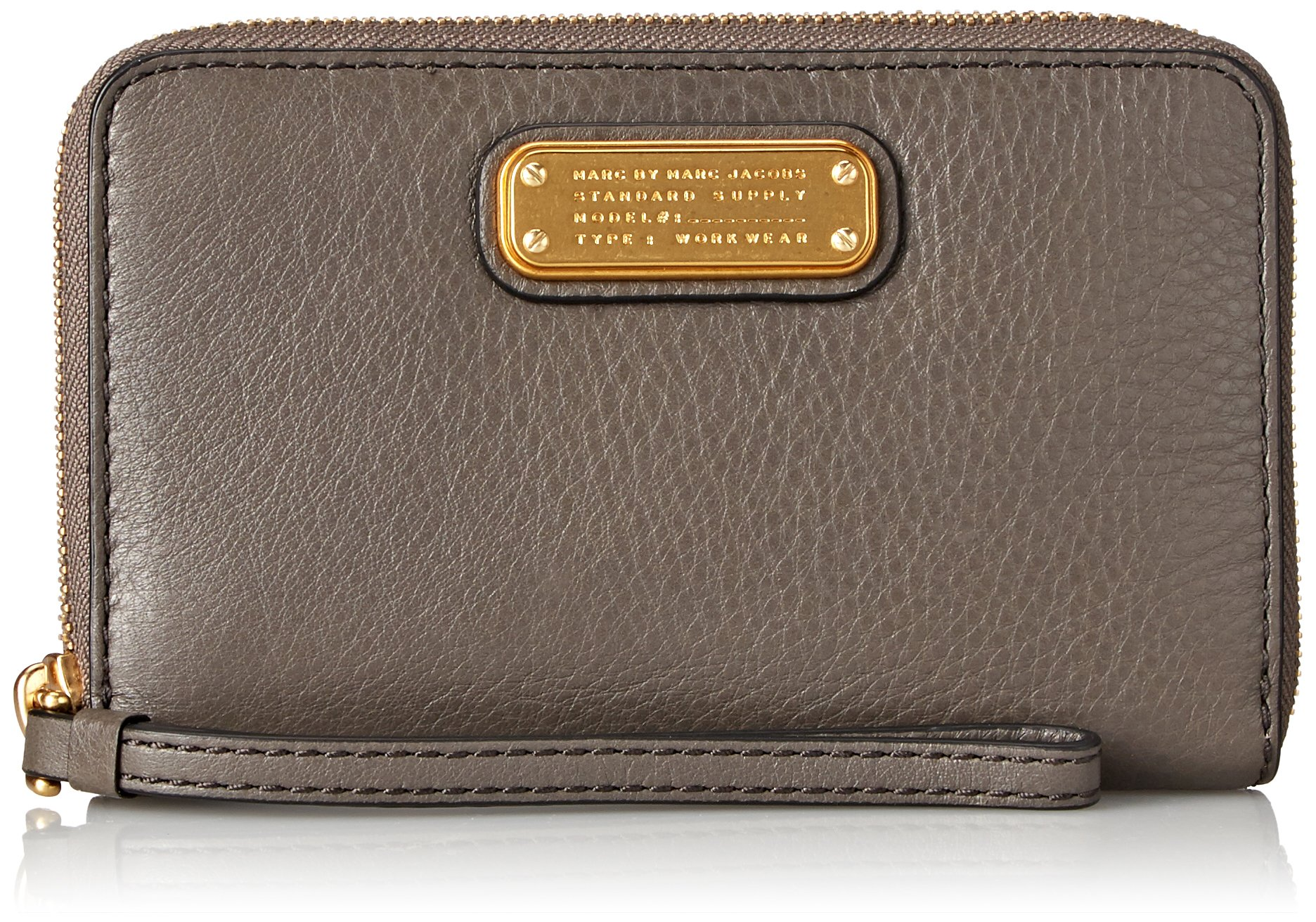 Marc by Marc Jacobs New Q Slgs Wingman Wallet, Faded Aluminum, One Size by Marc by Marc Jacobs