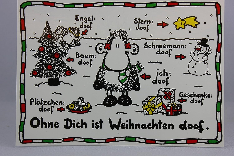 sheepworld - 50302 - Postkarte, Weihnachten, Schaf, Ohne Dich ist ...