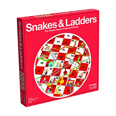 Pressman Snakes & Ladders Game, 2-4 Players, Ages 4 & Up: Toys & Games