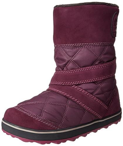 Amazon.com | Sorel Women's Glacy Slip-On Snow Boot, Vino, 12 M US ...