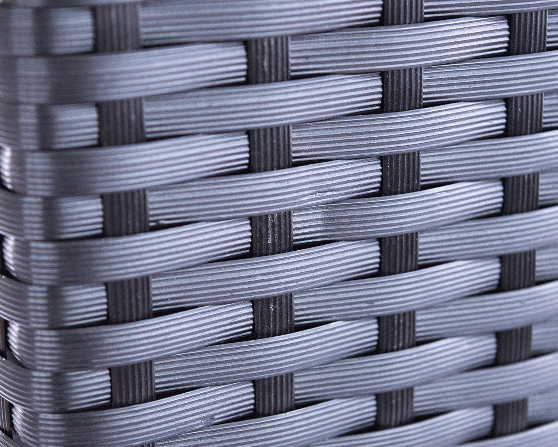 XXXL Pflanztrog Blumentrog Trennelement Polyrattan als Raumteiler LxBxH 82x30x80cm schwarz.