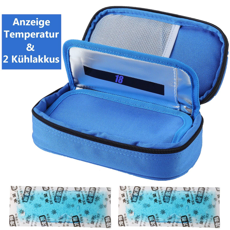 sac isotherme pour transporter les m/édicaments pour diab/étiques avec blocs r/éfrig/érants Sac isotherme /à insuline pour diab/étiques