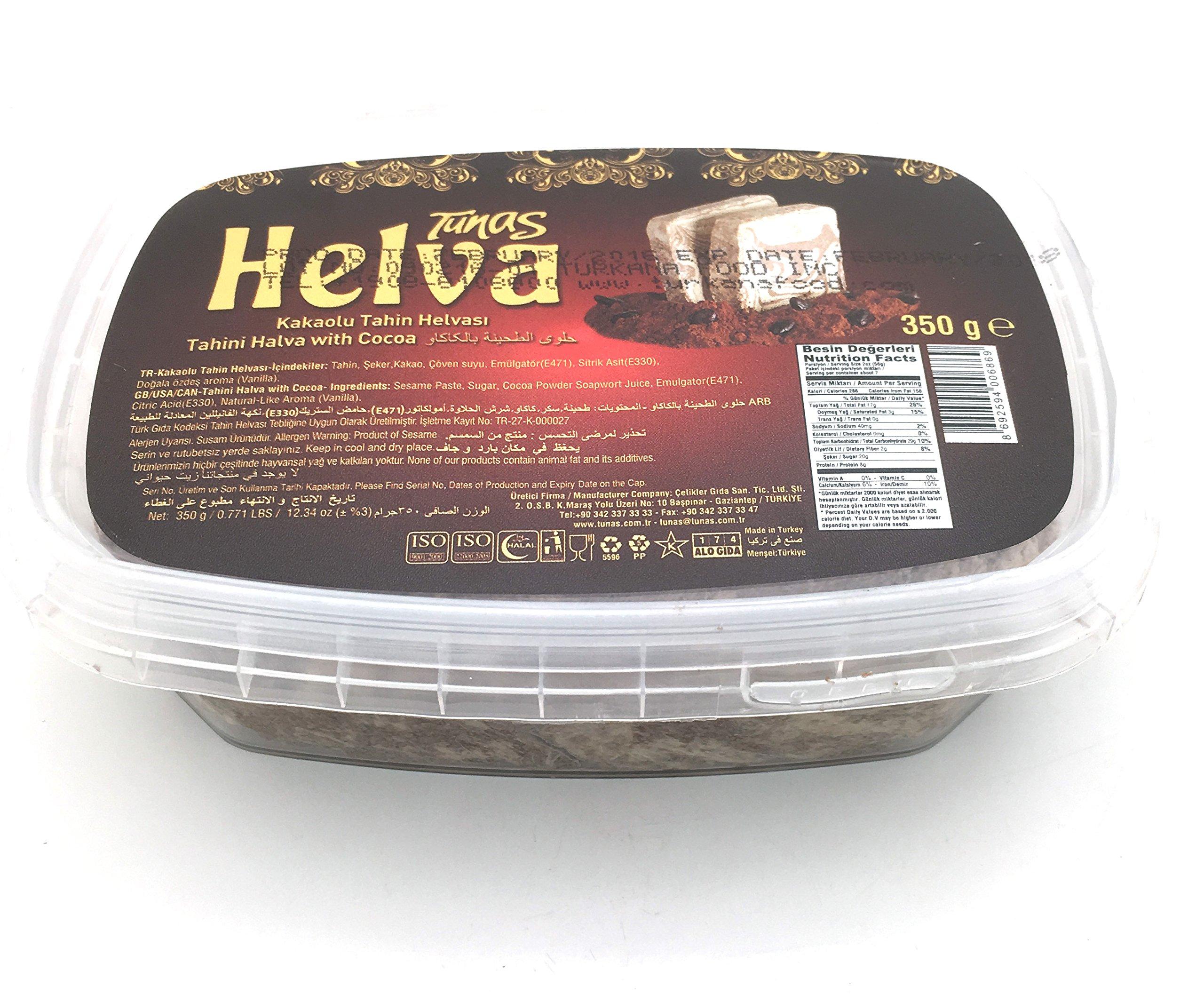 Tunas Halva, Halva with Cocoa, 12.3-Ounce (Pack of 4)
