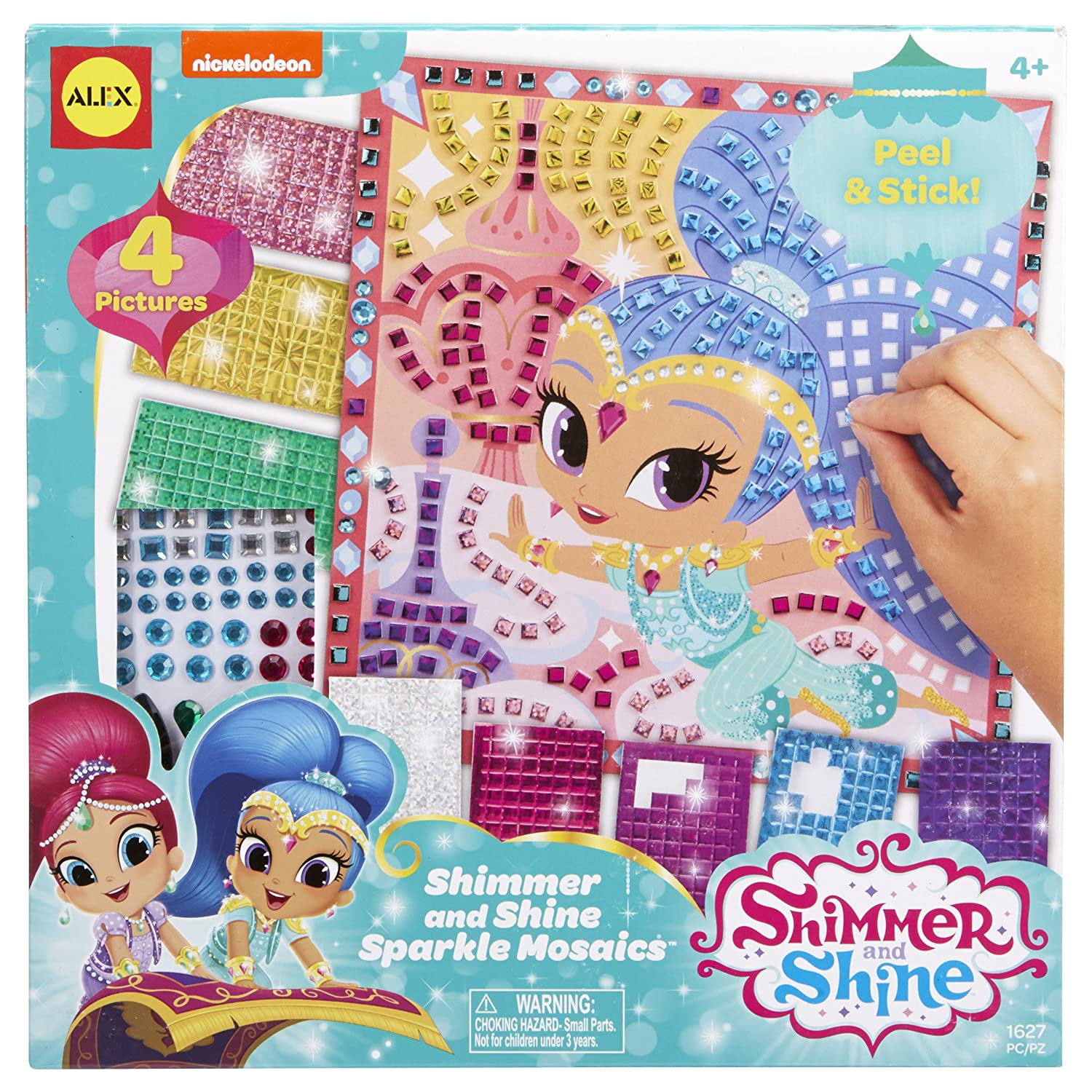 Amazon com shimmer and shine sparkle mosaics toys games