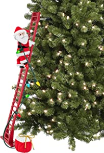 Mr. Christmas 37229 Super Climbing Plush Santa Holiday Decoration, One Size, Multi