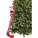 """Mr. Christmas 37229' 56"""" Indoor Deluxe Stepping Santa Christmas Décor, 40-inch, Red"""