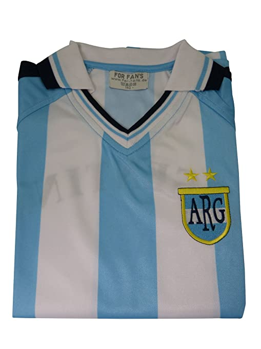 Camiseta de fútbol de Argentina, camiseta para fanáticos del equipo de Argentina: Amazon.es: Deportes y aire libre