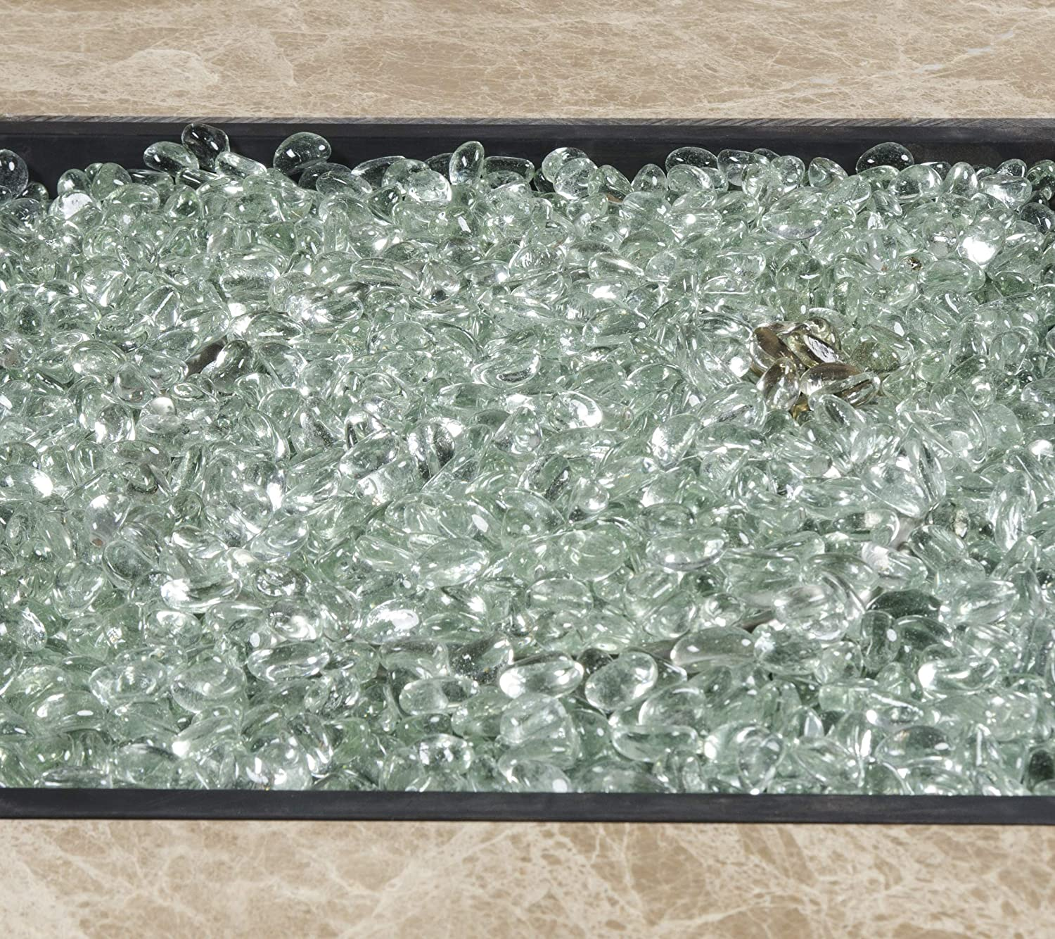10lb LavaGlass Round Fire Pit Dispersion Glass Bond Manufacturing Amber Sunset 0.66-0.74 Inches