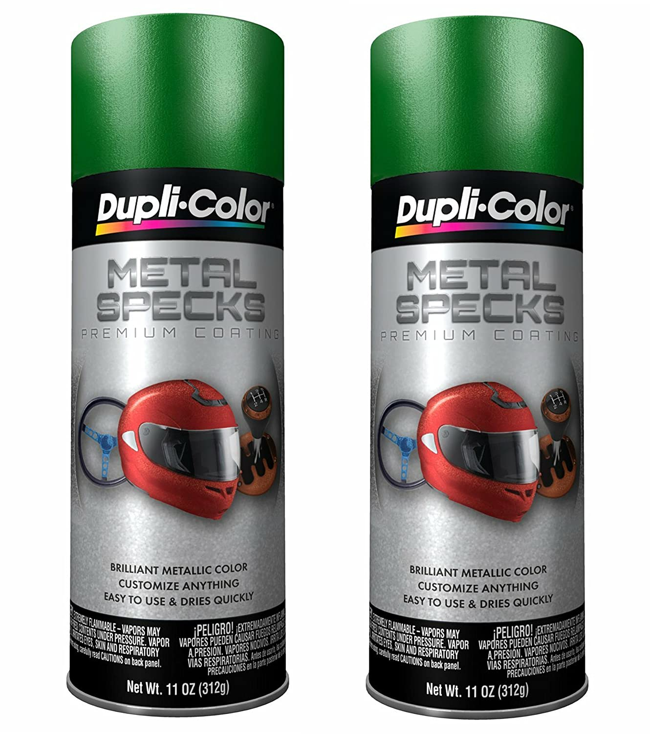 Amazon.com: Dupli-Color MS500 Shimmering Green Metal Specks - 11 oz. … (2 PACK): Automotive