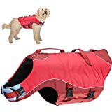 Kurgo Surf n' Turf Dog Life Jacket, Lifejacket for Dogs, Safety Doggy Floats, Reflective, Adjustable, Two Control Handles, fo