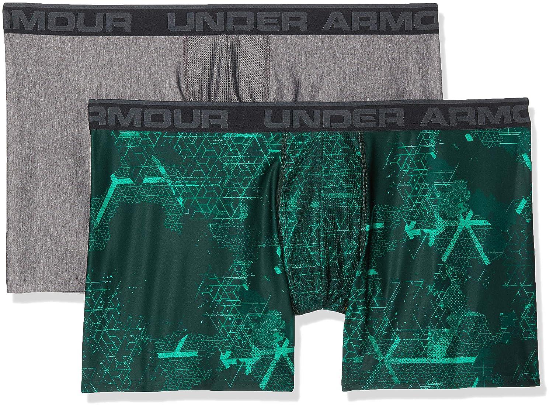 TALLA M. Under Armour O-Series 6in Boxerjock 2pk Novelty - Ropa Interior Hombre