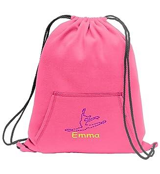 5e6131e0b All about me company Personalized Dance Sweatshirt Cinch Bag with Kangaroo  Pocket (Neon Pink)