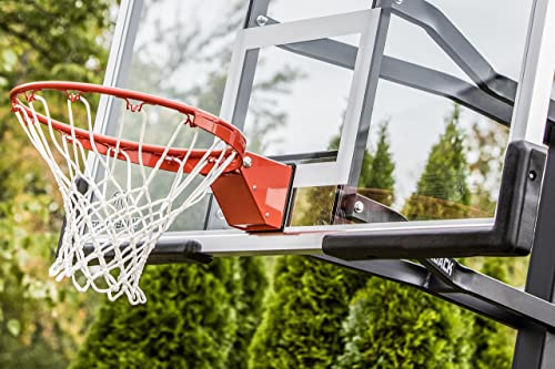 Silverback 54 In-Ground Basketball Hoop with Adjustable-Height Tempered Glass Backboard and Pro-Style Breakaway Rim