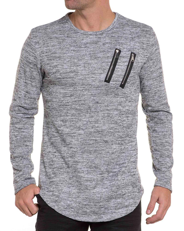 BLZ jeans - light gray sweater sweet man Oversized zips