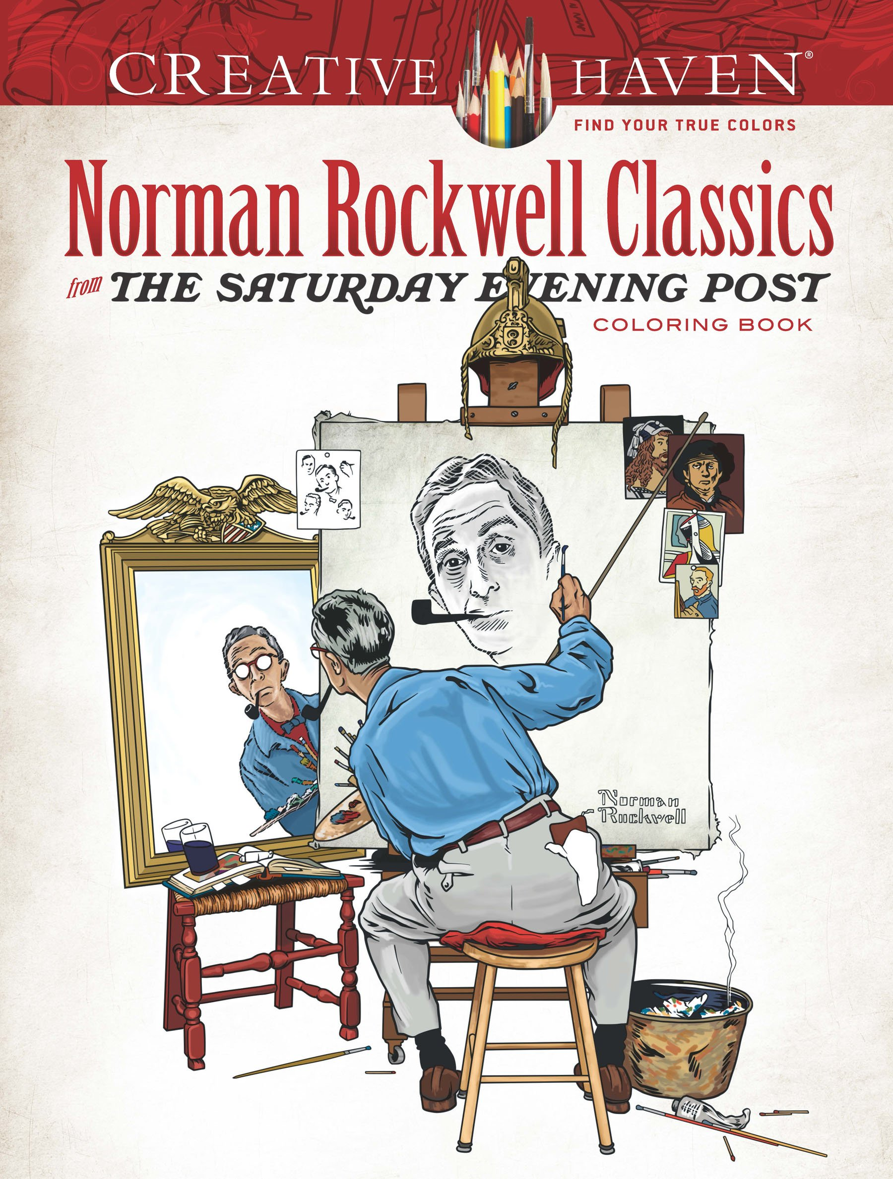 Download Creative Haven Norman Rockwell Classics from The Saturday Evening Post Coloring Book (Adult Coloring) pdf