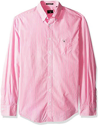 f7f34f61 GANT Men's The Broadcloth Banker Stripe Regular Fit Button Down Shirt at Amazon  Men's Clothing store: