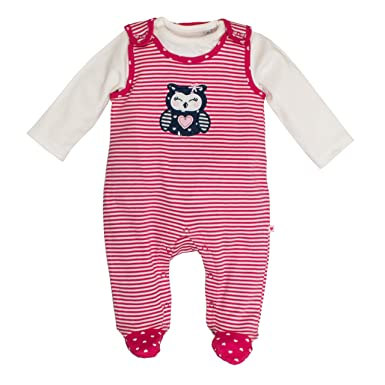 Salt and Pepper NB Playsuit Happy Stripe, Pelele para Bebés, Rosa (Rosy Pink