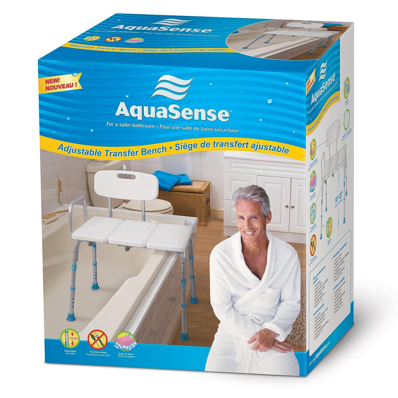 Amazon.com: Aquasense Adjustable Bath and Shower Transfer Bench ...
