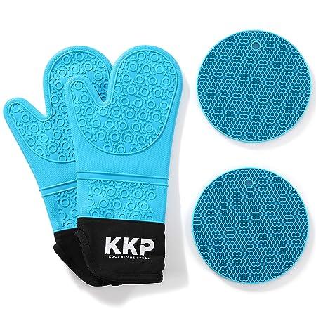 Kool Kitchen Pros Guantes para Horno de Silicona Azules y ...