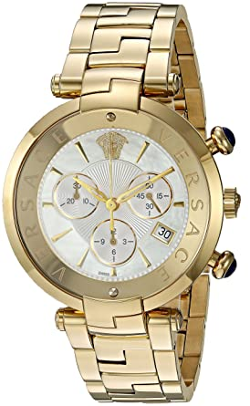 597b5ce815d Image Unavailable. Image not available for. Color  Versace Rêvive Chrono  Swiss-Quartz Watch ...