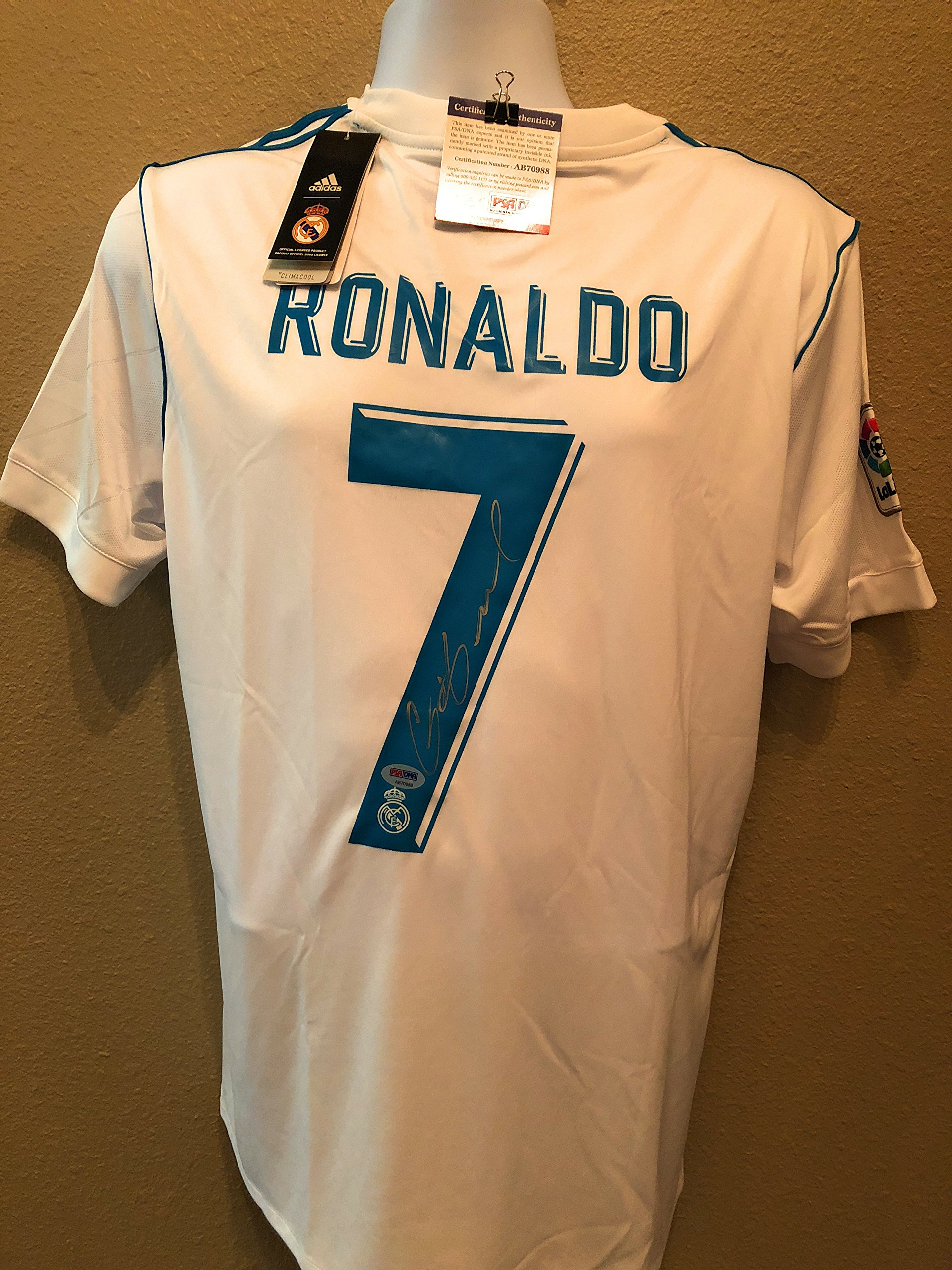 Cristiano Ronaldo Fly Emirates Signed Autograph MLS Soccer Jersey PSA/DNA Certified
