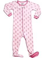 "Leveret ""Girl"" Footed Pajama Sleeper 100% Cotton (Size 6M-5 Years)"