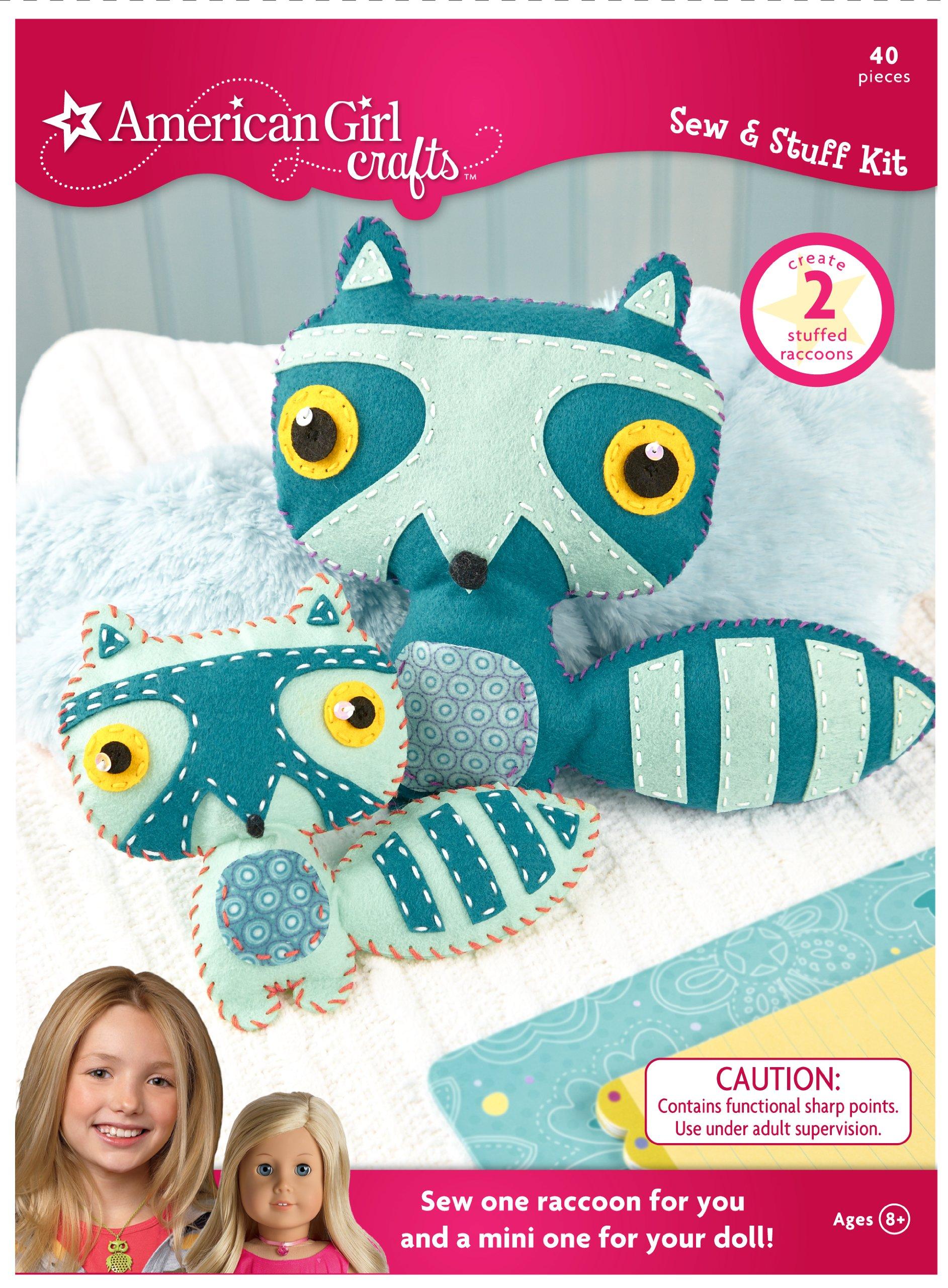 American Girl Crafts Sew Stuff Kit, Raccoon