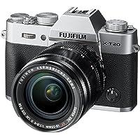 Fujifilm X-T20 Mirrorless Digital Camera, Silver with Fujinon XF18-55mm F2.8-4 R LM Optical Image Stabiliser Lens Kit