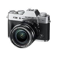"""Fujifilm X-T20 Fotocamera Digitale 24MP con Obiettivo XF18-55mm F2.8-4 R LM OIS, Sensore CMOS X-Trans III APS-C, Schermo LCD Touchscreen 3"""" Orientabile, Filmati 4K, Argento"""