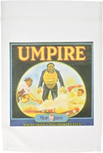 3dRose fl_153841_1 Vintage Baseball Umpire Food Ad Garden Flag, 12 by 18-Inch