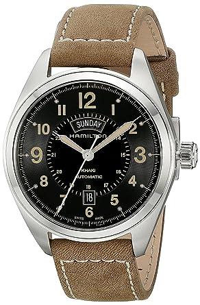Hamilton Men S H70505833 Khaki Field Analog Display Automatic Self Wind Brown Watch