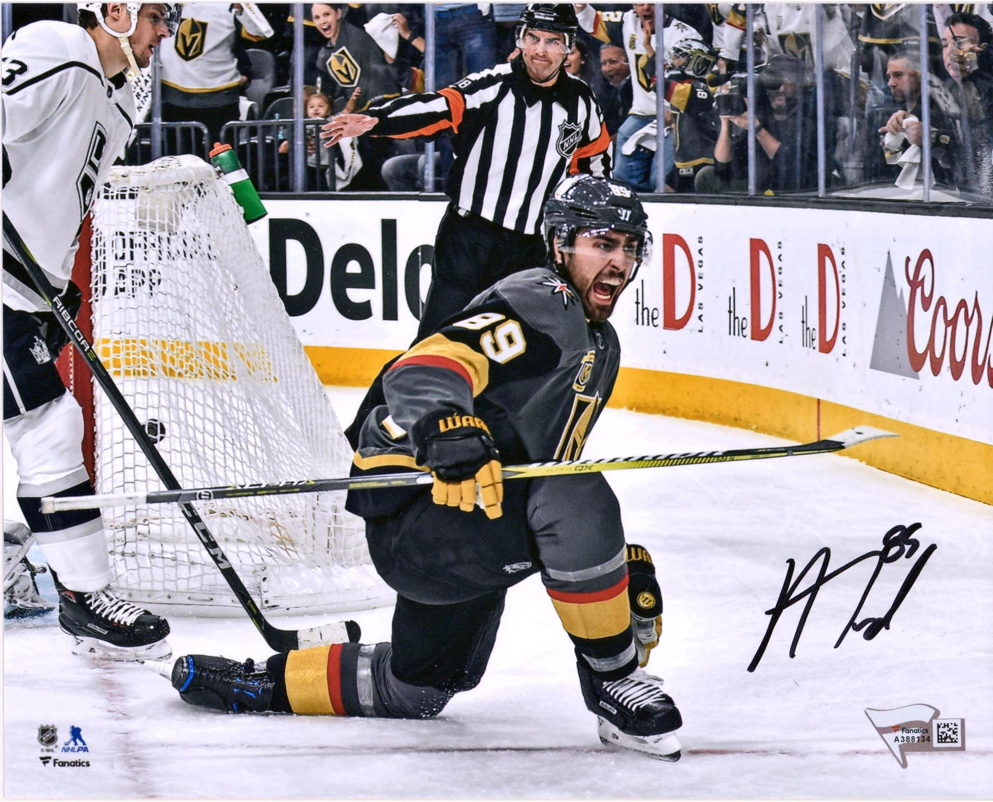 "Alex Tuch Vegas Golden Knights Autographed 8"" x 10"" Black Jersey Goal Celebration Photograph Fanatics Authentic Certified"